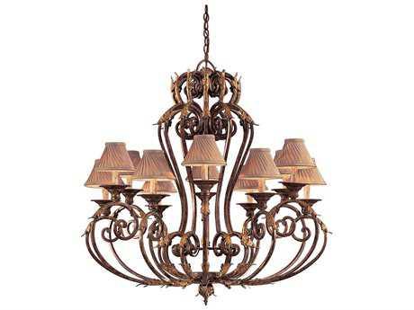 Metropolitan Lighting Zaragoza Golden Bronze 12-Lights 44'' Wide Chandelier METN6239355