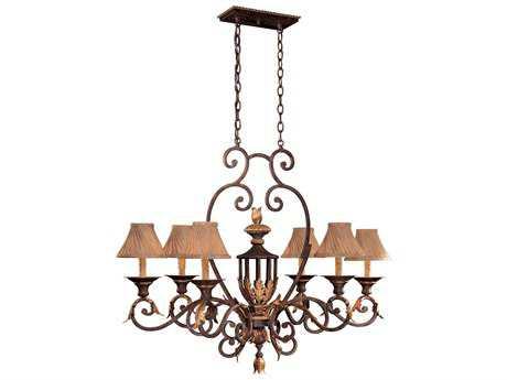 Metropolitan Lighting Zaragoza Golden Bronze Six-Lights 40'' Long Island Light METN6234355