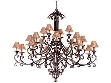 Metropolitan Lighting Zaragoza Golden Bronze 20-Lights 71'' Wide Grand Chandelier METN6245355