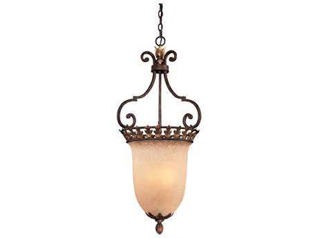 Metropolitan Lighting Zaragoza Golden Bronze Three-Lights 18.5'' Wide Pendant Light METN6232355