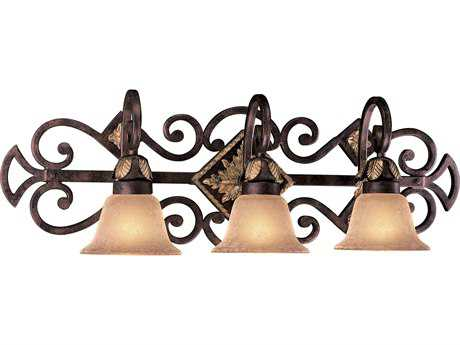Metropolitan Lighting Zaragoza Golden Bronze Three-Lights Vanity Light METN2233355