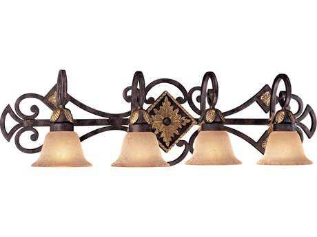Metropolitan Lighting Zaragoza Golden Bronze Four-Lights Vanity Light METN2234355