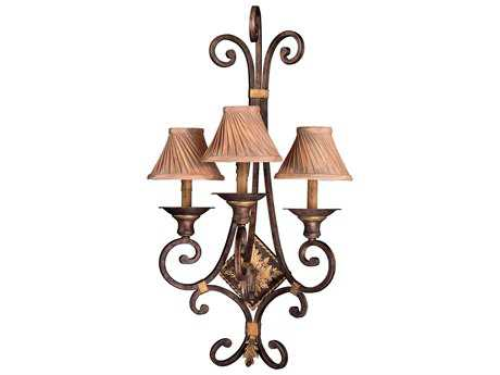 Metropolitan Lighting Zaragoza Golden Bronze Three-Lights Wall Sconce METN2231355