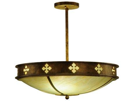 Meyda Tiffany Byzantine Three-Light Semi-Flush Mount Light