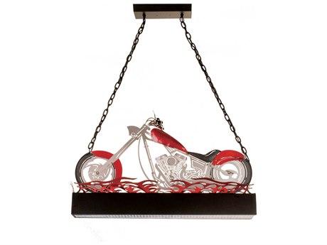 Meyda Tiffany Motorcycle Oblong Two-Light Pendant MY13588