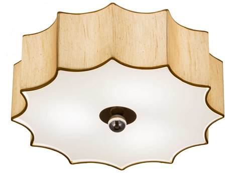 Meyda Tiffany Arevik Three-Light 22'' Wide Flush Mount Ceiling Light