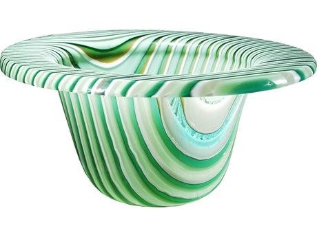Meyda Tiffany Metro Fusion Peppermint Glass Bowl MY113018