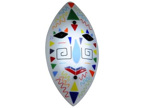Meyda Tiffany Fused Glass Tribal Mask MY148304