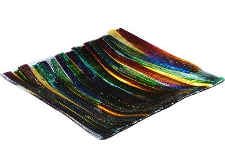 Meyda Tiffany Metro Fusion Penna Di Pavone Glass Plate MY114436