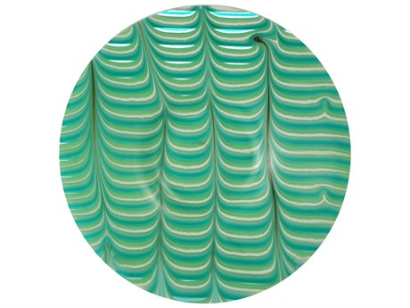Meyda Tiffany Metro Fusion A Day At The Beach Glass Plate MY129205