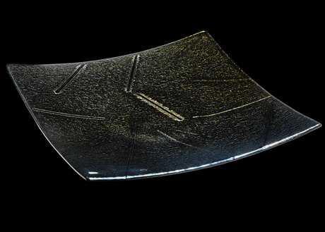 Meyda Tiffany Metro Fusion Goldfusion Glass Plate MY138981