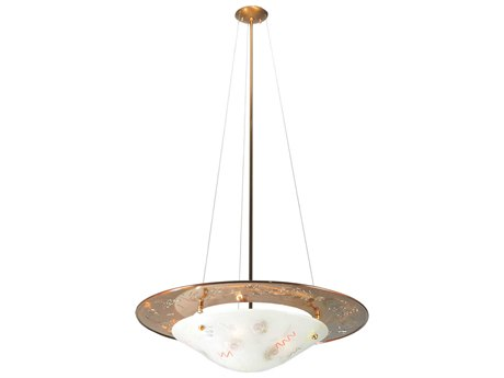 Meyda Tiffany Metro Fusion La Spiaggia Glass Four Light Inverted Pendant Light My108133
