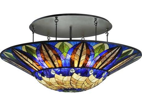 Meyda Tiffany Tampa Bay 12-Light Semi-Flush Mount Light MY115511