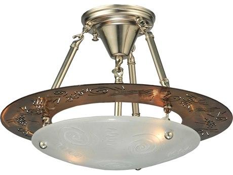 Meyda Tiffany Metro Super Nova Two-Light Semi-Flush Mount Light MY124461