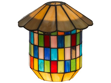 Meyda Tiffany Meyer Panel Lantern Shade with Ring