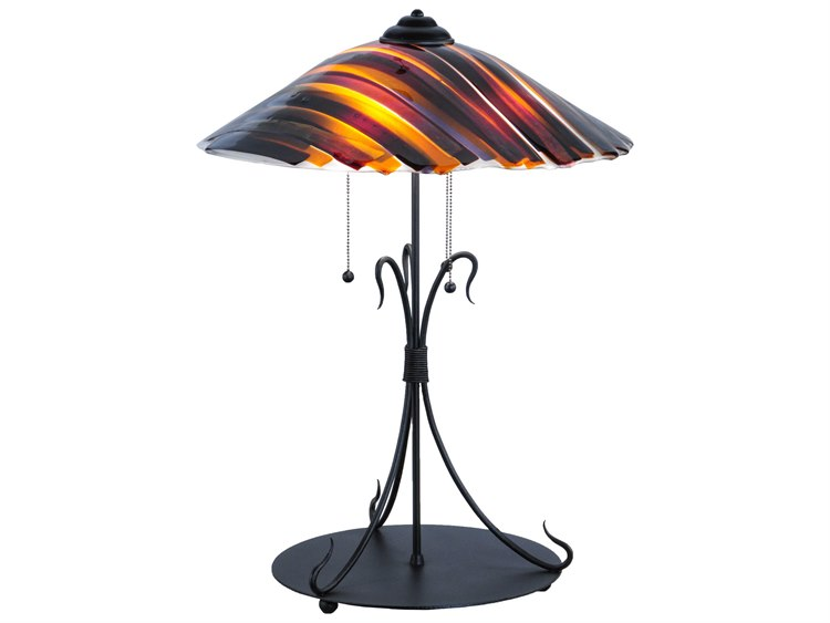 Meyda Tiffany Metro Fusion Marina Glass Multi Color Table Lamp My144649