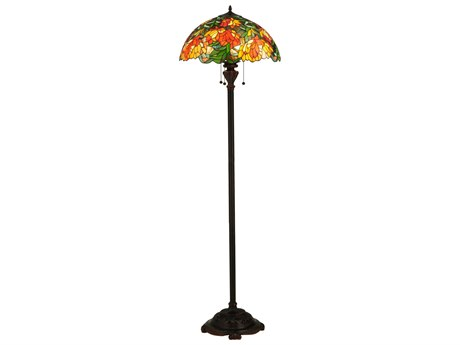 Meyda Tiffany Lamella Multi-Color Floor Lamp