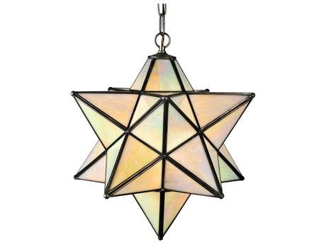 Meyda Tiffany Moravian Star Beige Iridescent Pendant Light MY12114