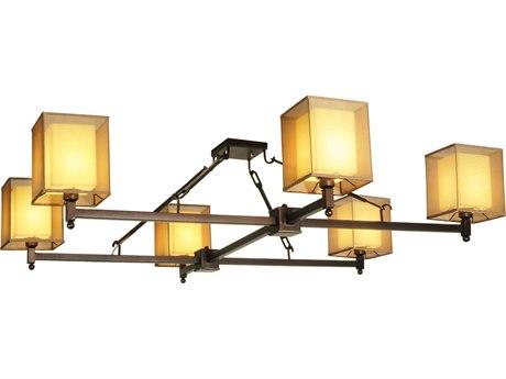 Meyda Tiffany Horizon Bay Six-Light Semi-Flush Mount Light