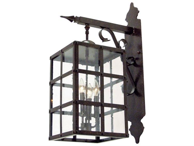 Meyda Baretta Blackwash 4 Light Glass Outdoor Wall Light My117354