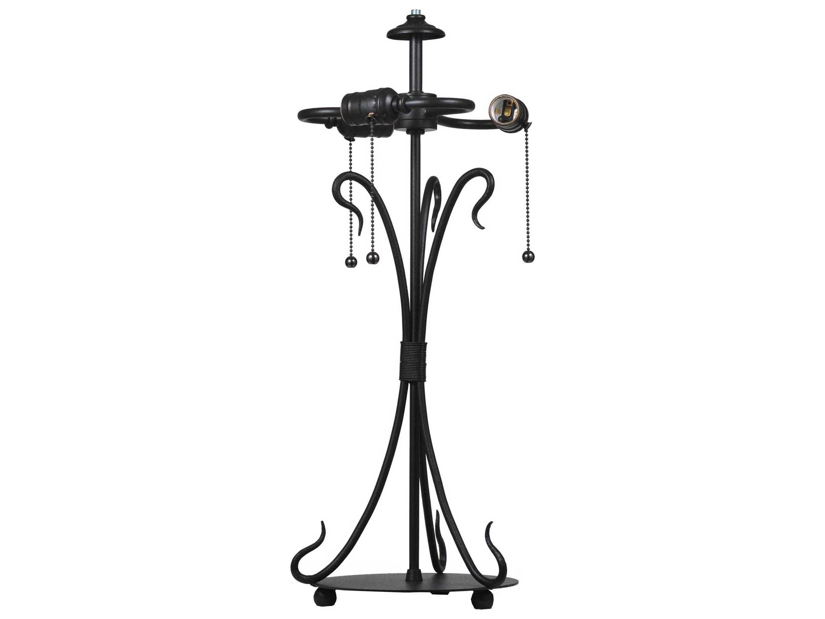 Meyda Tiffany Wrought Iron Table Lamp Base My108405