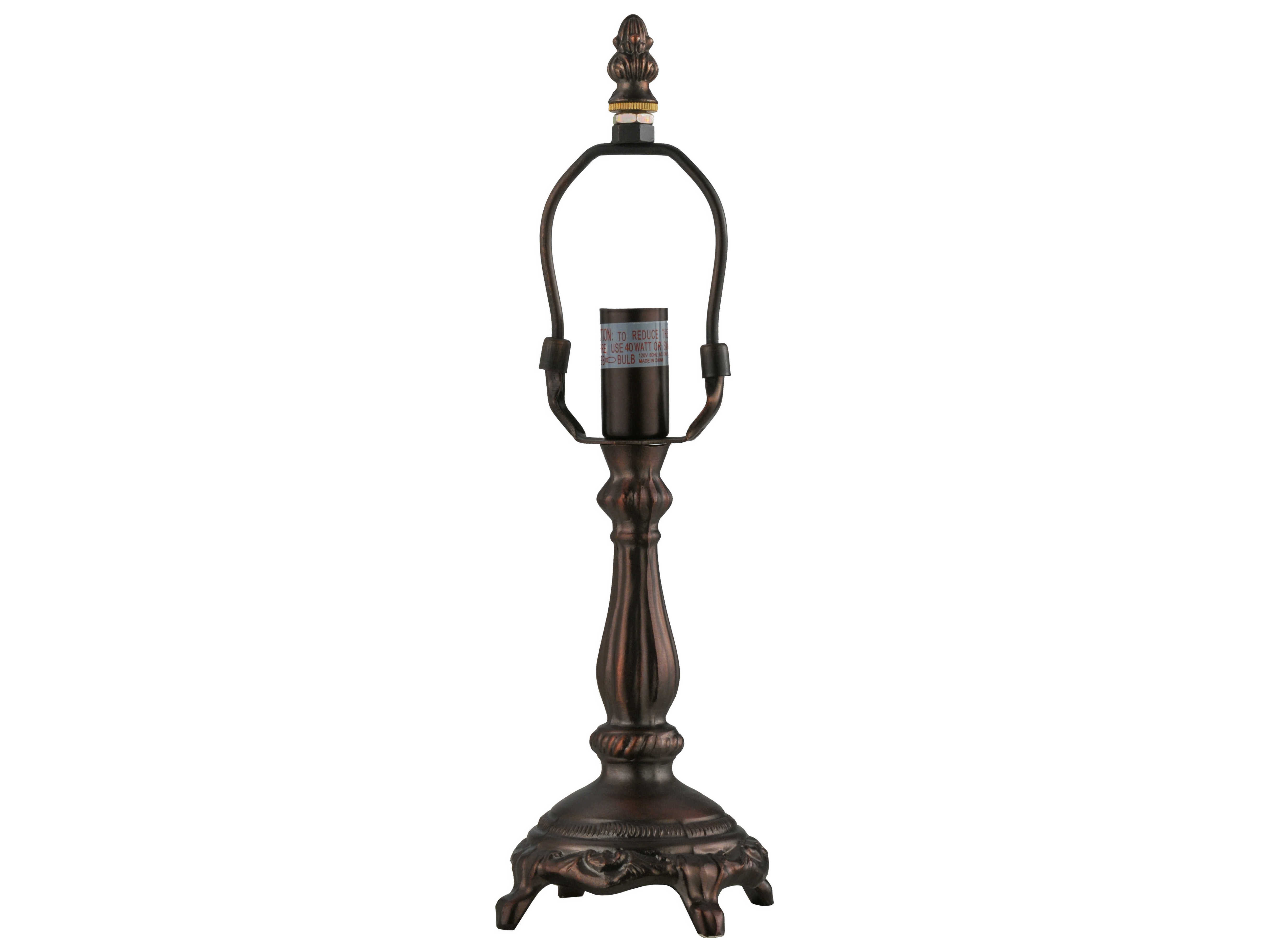 Meyda Tiffany Footed Harp Set Up Table Lamp Base My22716