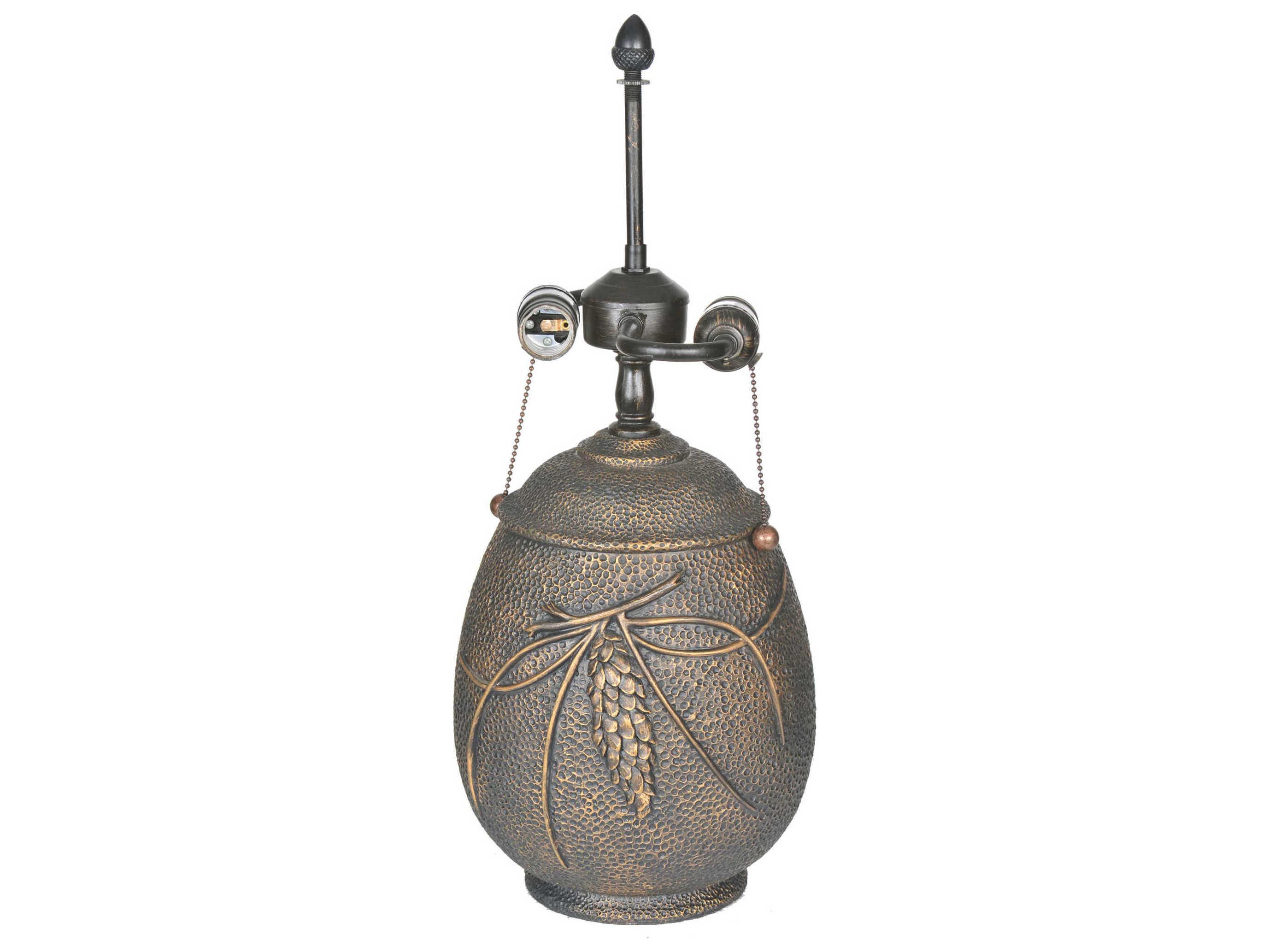 Meyda Tiffany Hammered Pinecone Table Lamp Base My72546
