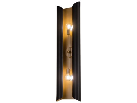 Meyda Beaumont Black / Gold 2-light Vanity Light MY195605