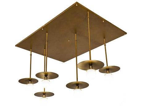Meyda Bola Gold / Clear 6-light 75'' Wide Glass LED Island Light MY188598
