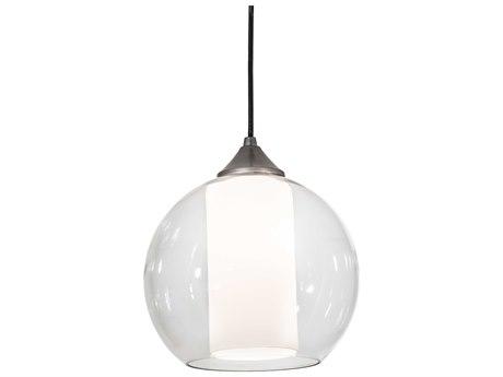 Meyda Bola Brushed Nickel 1-light 10'' Wide Glass Mini Pendant MY189216