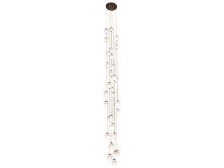Meyda Bola Mahogany Bronze 30-light 28'' Wide Glass LED Pendant MY210479