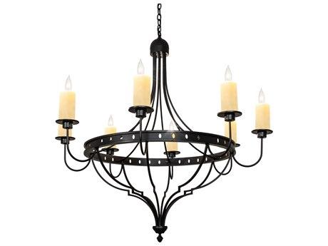 Meyda Bottini Black / Ivory 8-light 48'' Wide Chandelier