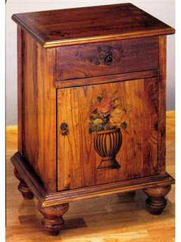 Meyda Tiffany 16 x 20 Potted Flowers Colonial Cabinet