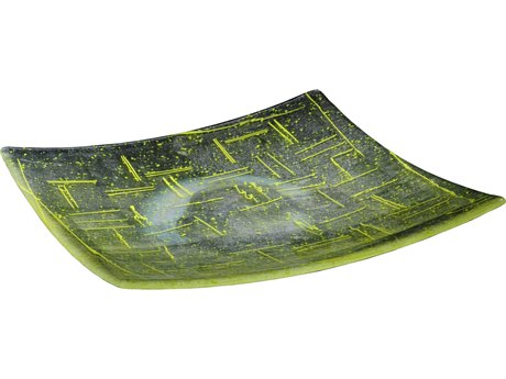 Meyda Tiffany Metro Fusion Lemon Glass Plate MY114431