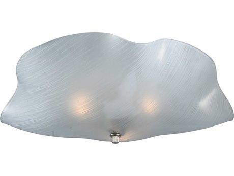 Meyda Tiffany Metro Mist Organic Art Glass Three-Light Flush Mount Light