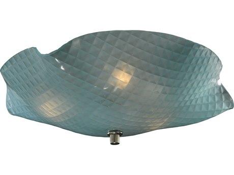 Meyda Tiffany Metro Organic Art Glass Window Pane Three-Light Flush Mount Light MY132122