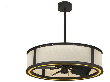 Meyda Tiffany Maplewood Beige Linen LED 648-Light Chandel-Air
