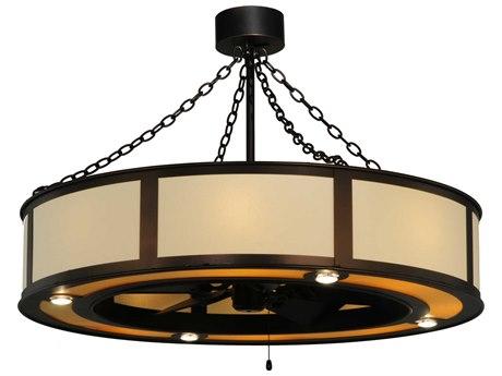 Meyda Tiffany Maplewood Beige Linen 16-Light Chandel-Air