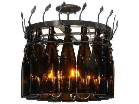 Meyda Tiffany Tuscan Vineyard Estate 16 Wine Bottle 12-Light 20 Wide Mini Chandelier MY134432