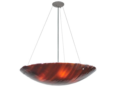 Meyda Tiffany Torta Fused Glass Inverted Four-Light Pendant Light