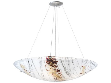 Meyda Tiffany Ramoscelli Fused Glass Four-Light Inverted Pendant Light
