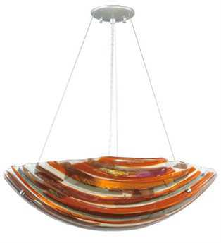 Meyda Tiffany Metro Fusion Marina Glass Four-Light Inverted Pendant Light