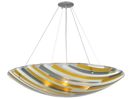 Meyda Tiffany Metro Fusion Sandblasted Clear Glass Four-Light Inverted Pendant Light