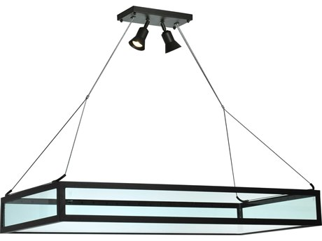 Meyda Tiffany Plateau Oblong Inverted Two-Light Pendant Light