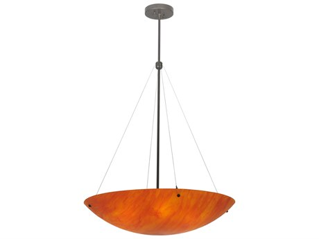 Meyda Tiffany Cypola Sterling Flame Six-Light Inverted Pendant Light