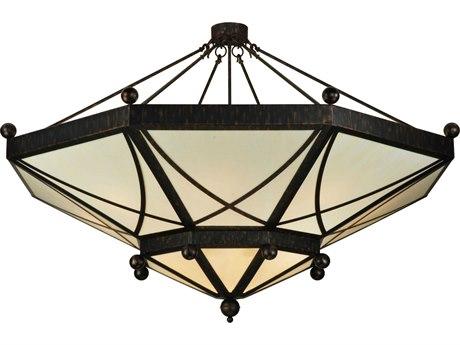 Meyda Tiffany Grenoble 15-Light Semi-Flush Mount Light MY133411