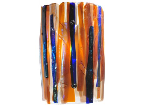 Meyda Tiffany Metro Fusion Oceano Glass Wall Sconce