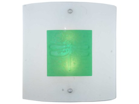 Meyda Tiffany Metro Fusion Wings Glass Two-Light Wall Sconce