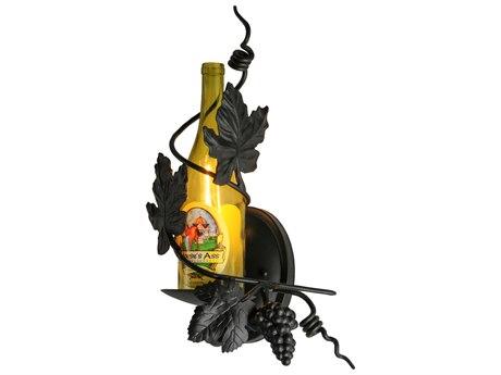 Meyda Tiffany Tuscan Vineyard Personalized Wine Bottle Wall Sconce MY133012