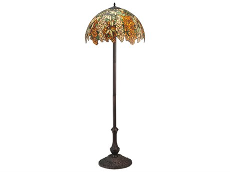 Meyda Tiffany Laburnum Jadestone Multi-Color Floor Lamp MY120518
